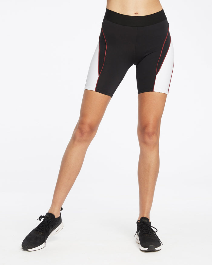 Vortex Bike Short - Black/White/Wine