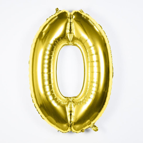 Gold Number Balloons