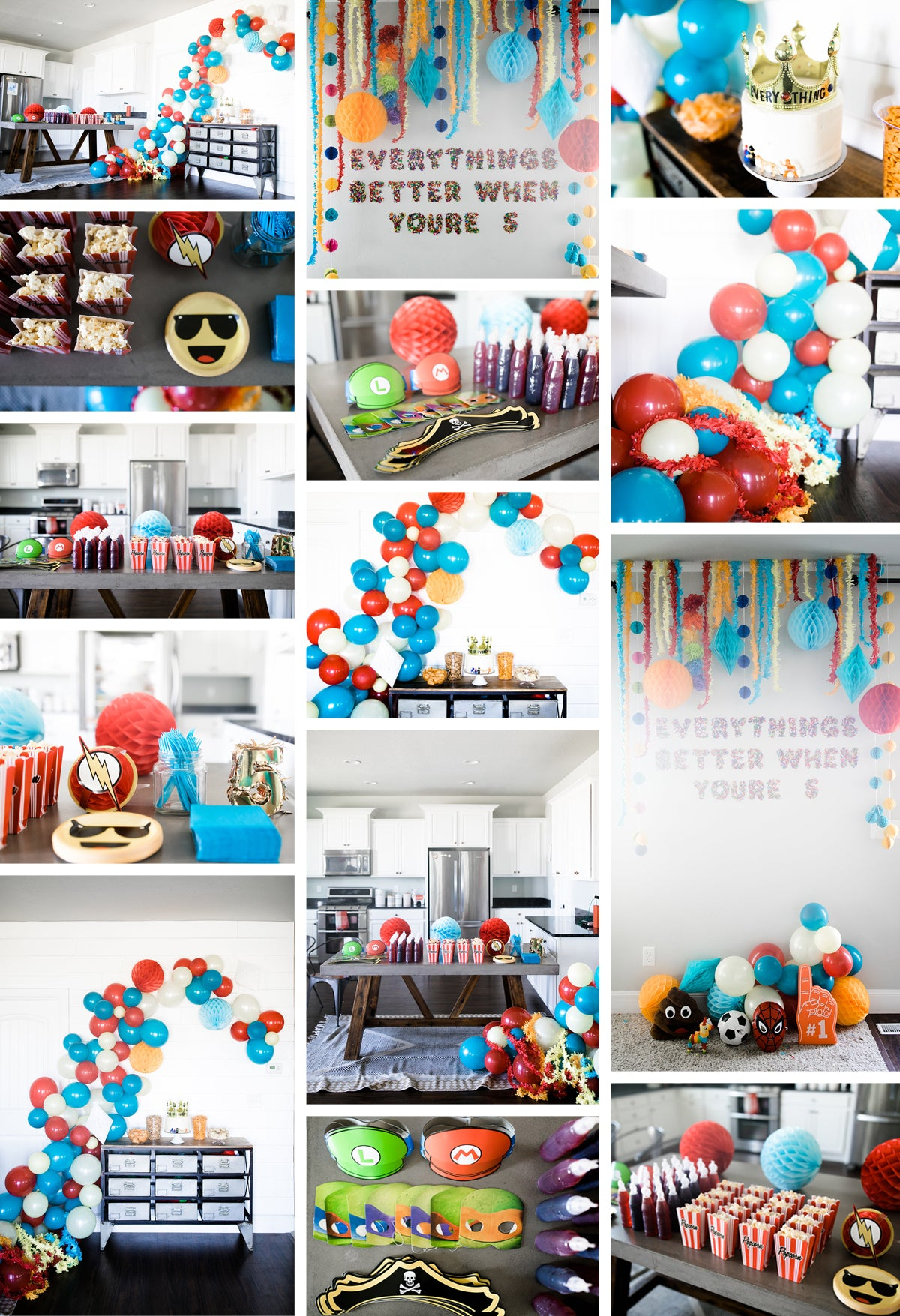 Everything's Better When You're 5 -- fifth birthday party ideas!