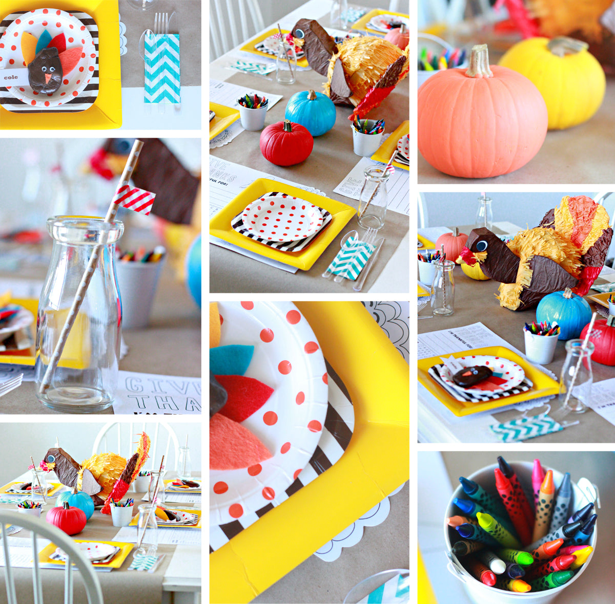 kid friendly thanksgiving table