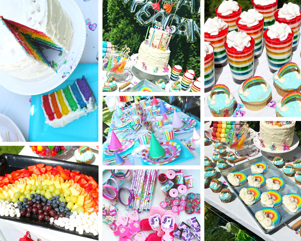 This Rainbow Dash Party By Simply Sadie Jane Has The Perfect Mix Of Adult And Kid Elements She Used Beautifully Colored Supplies To Supplement