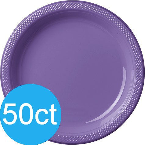 New Purple 10.25'' Plastic Plates | 50ct