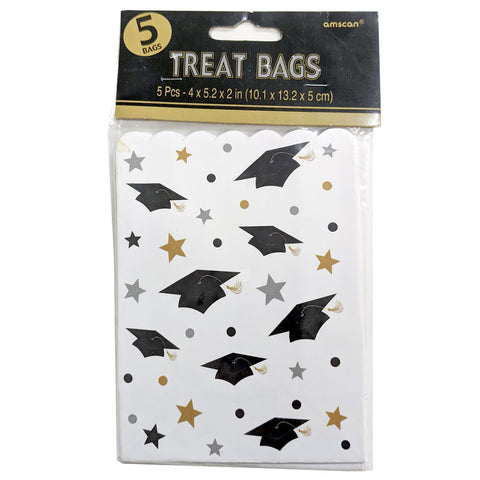 Graduation Themed Treat Bags | 5ct