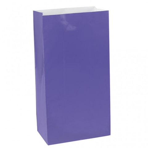 New Purple Mini Paper Bags | 12 ct