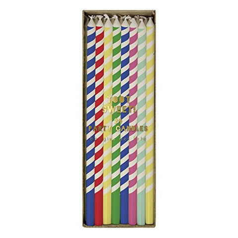 "6"" Bright Stripe Candles 