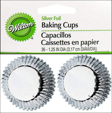 Silver Foil Mini Baking Cups | 36 ct
