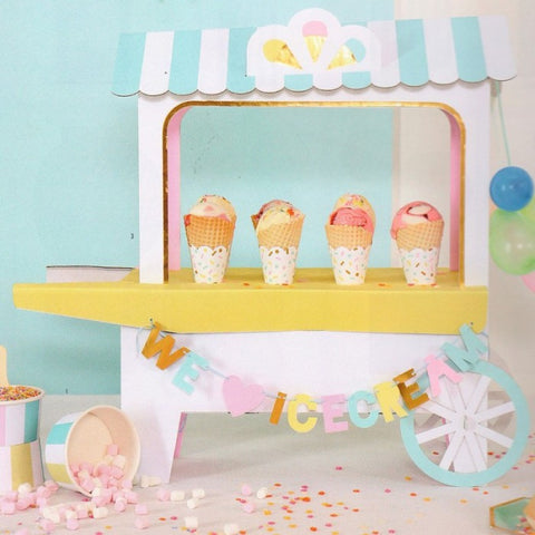 Ice Cream Cart Centerpiece | 1 ct
