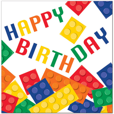 Block Party Happy Birthday Lunch Napkins | 16 ct
