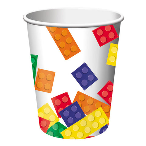 Block Party Paper Cups, 9 oz. | 8 ct