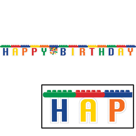 Block Party Happy Birthday Joint Banner, 9.25' | 1 ct