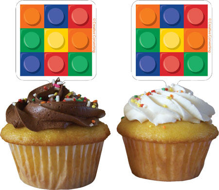 Block Party Cupcake Toppers | 12 ct