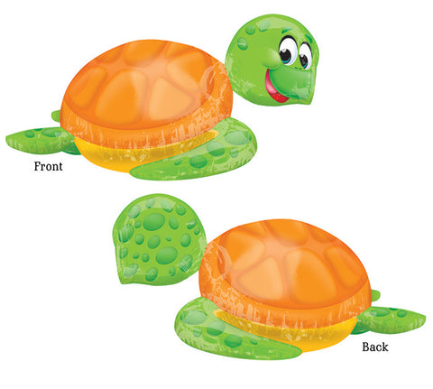 Silly Turtle Supershape Mylar Balloon | 1 ct