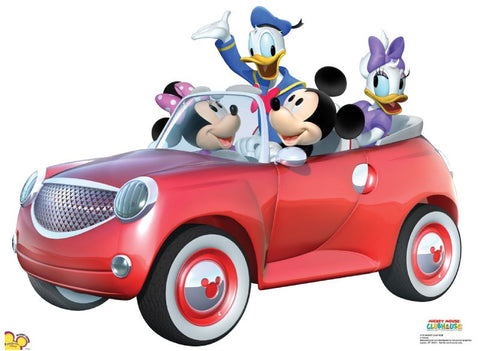 Mickey Mouse Car Ride Lifesize Standup