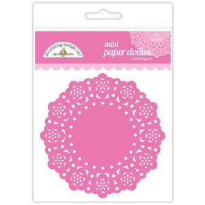 Bubblegum Mini Doilies 3'' | 75 ct