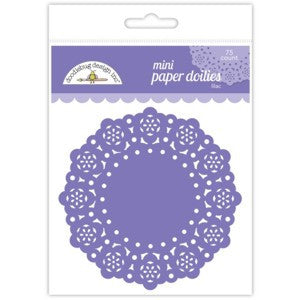 Lilac Mini Doilies 3'' | 75 ct