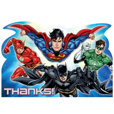 Justice League Thank You Cards | 8 ct