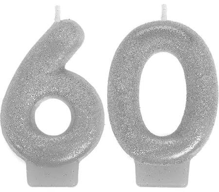 Sparkling Celebration 60th Birthday Candle, 3'' | 1 ct