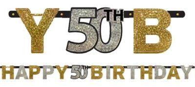 Sparkling Celebration 50th Birthday Letter Banner | 1 ct