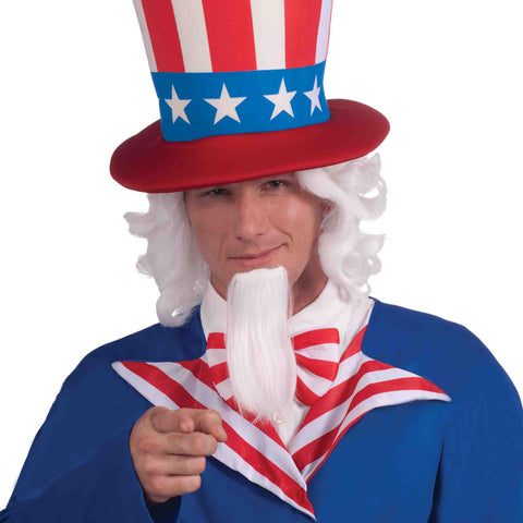 Uncle Sam Wig and Beard Set | 1 set