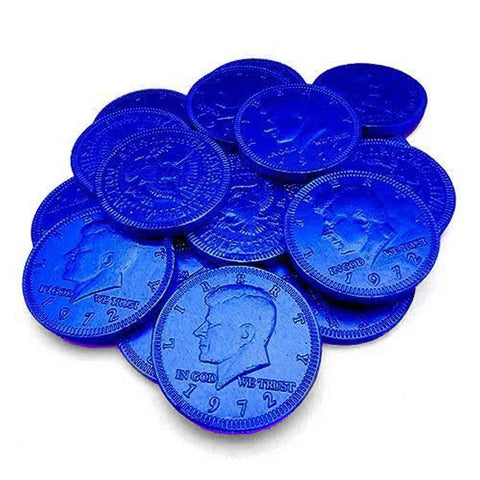 Fort Knox Dark Blue Chocolate Coins 1.5"