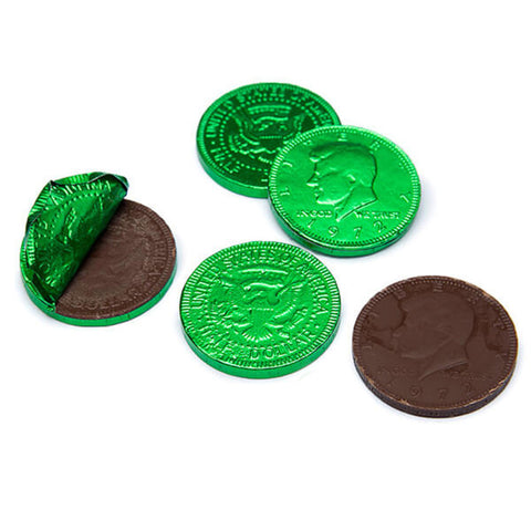 Fort Knox Green Chocolate Coins 1.5"