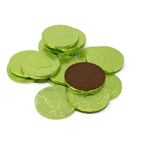 Fort Knox Light Green Chocolate Coins 1.5"