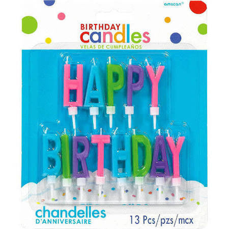 Bright Happy Birthday Letter Candles