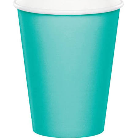 Teal Lagoon Paper Cups, 9 oz. | 24 ct