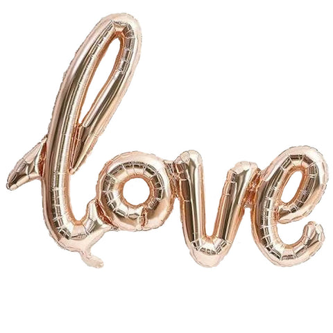 Love Rose Gold Balloon Banner
