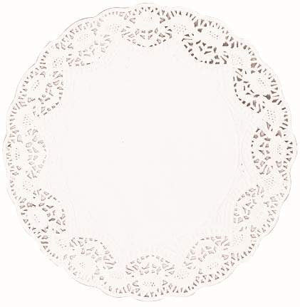 White Round Doilies 4"