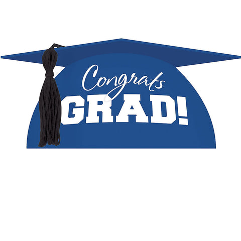 Royal Blue Graduation Cap Cake Topper | 1ct