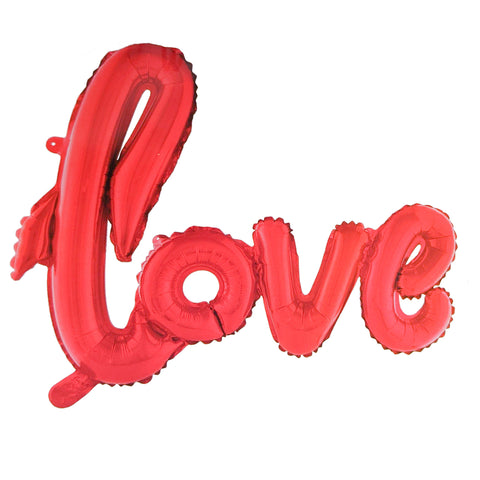 "Script Red ""Love"" Foil Air Balloon 