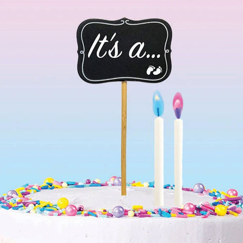 Gender Reveal Cake Topper & Candle Kit | 1kit