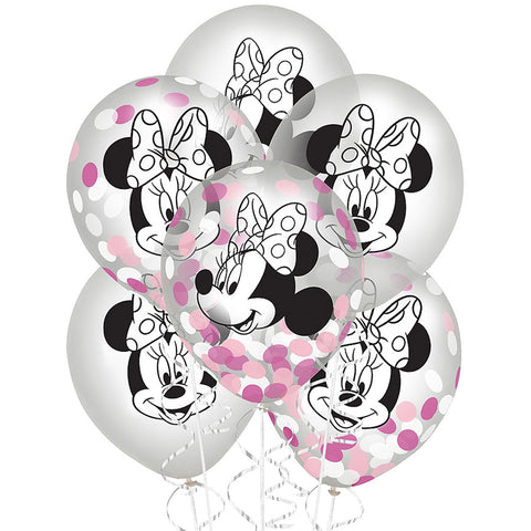 Minnie Mouse Latex Confetti Balloons 12"
