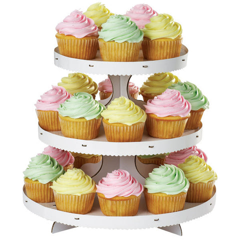 White Cupcake Stand | 3 Tiers