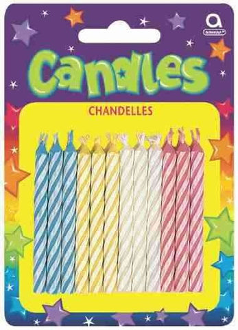 Candles - Candy Stripe Assortment | 12ct