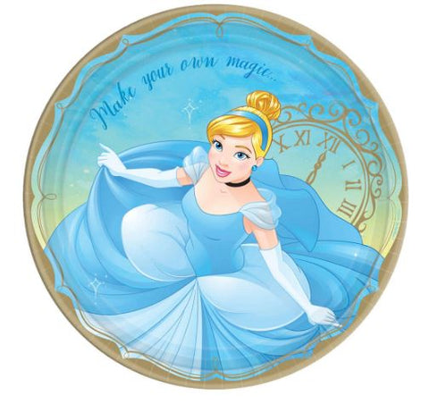 Disney Princess Cinderella Lunch Plates | 8 ct