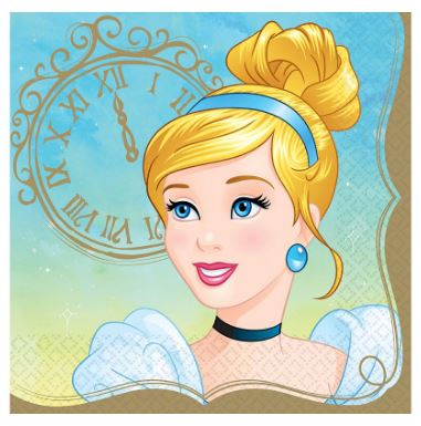 Disney Princess Cinderella Lunch Napkins | 16ct
