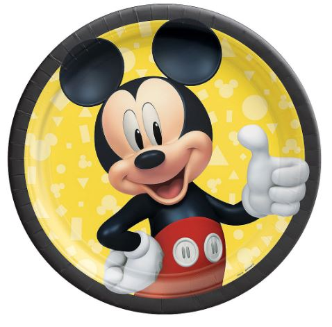 Mickey Mouse Lunch Plates 9"