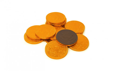 Fort Knox Orange Chocolate Coins 1.5"