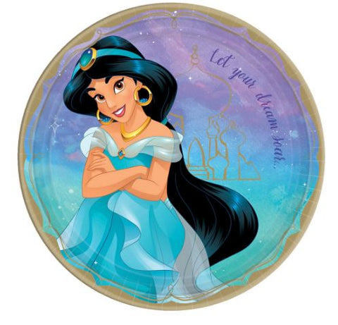 Disney Princess Jasmine Lunch Plates | 8ct
