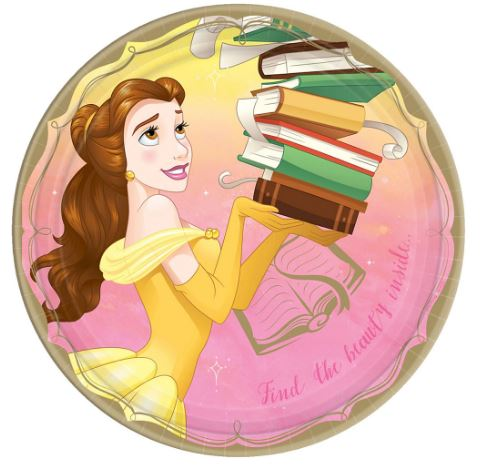 Disney Princess Belle Lunch Plates | 8ct
