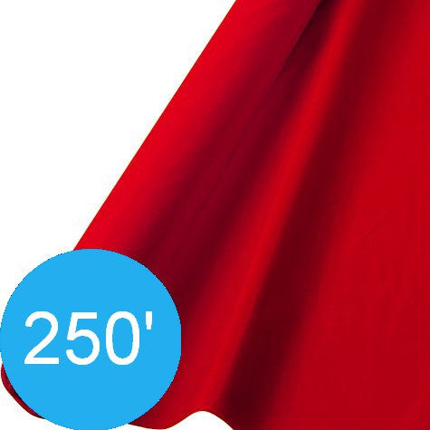 Apple Red 250' Plastic Table Roll | 1ct