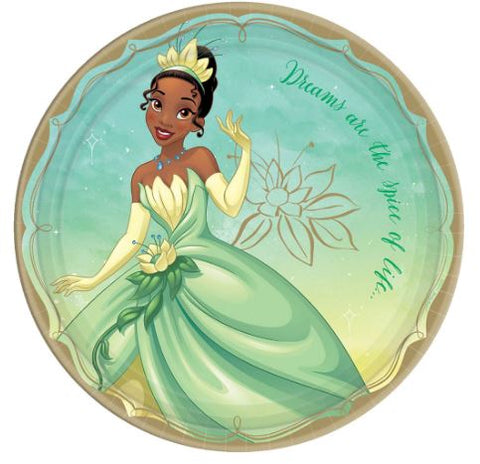Disney Princess Tiana Lunch Plates | 8ct