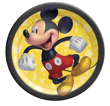 Mickey Mouse Dessert Plates 7"
