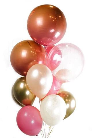 Pink & Gold Balloon Bouquet