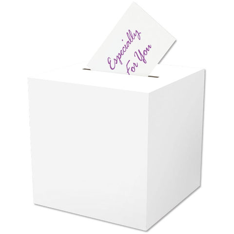 "All purpose receiving box. White. 9"" x 9"" 