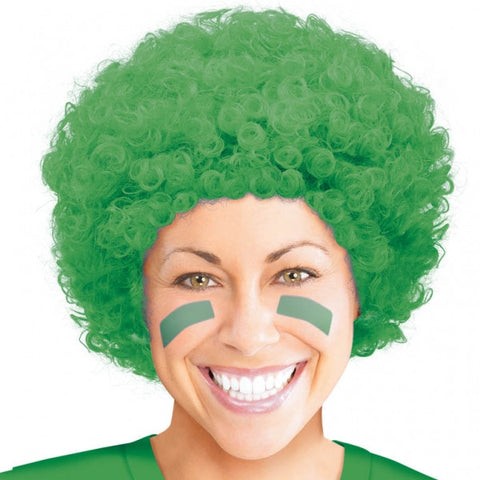 Green Afro Wig | Adult
