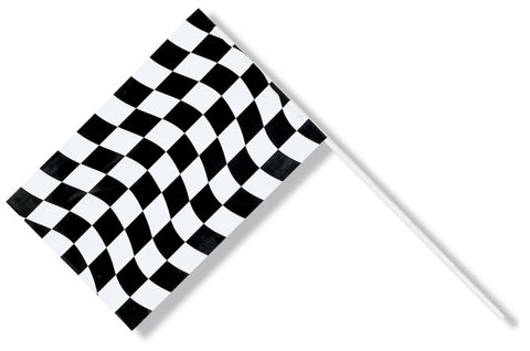 "Checkered Flag, Plastic. 6"" x 9"" 