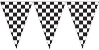 Checkered Flag Banner, 20' | 1 ct